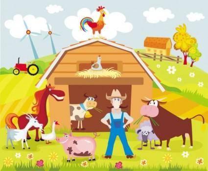 free vector Cartoon farm 02 vector