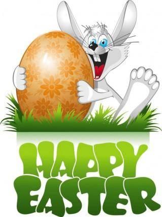 free vector Easter cartoon elements 03 vector
