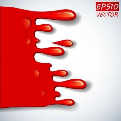 free vector Cartoon red blood 01 vector