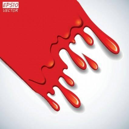 free vector Cartoon red blood 03 vector