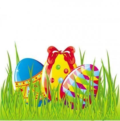 free vector Easter cartoon elements 01 vector
