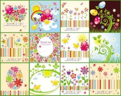 free vector Easter cartoon elements 04 vector