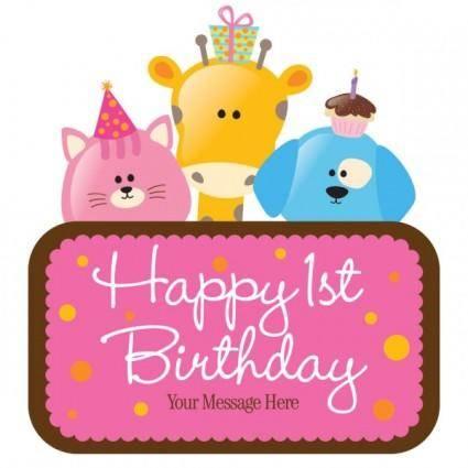 free vector Cartoon birthday cards 02 vector