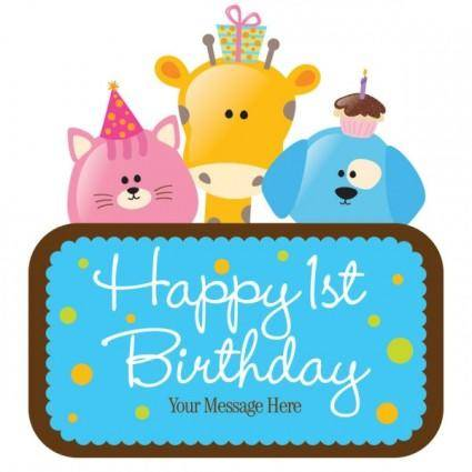 free vector Cartoon birthday cards 03 vector