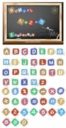 free vector Cartoon effect of letters and numbers vector