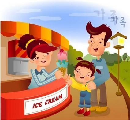 free vector Iclickart cartoon illustration vector 9 family
