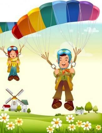free vector Iclickart cartoon illustration vector 12 family