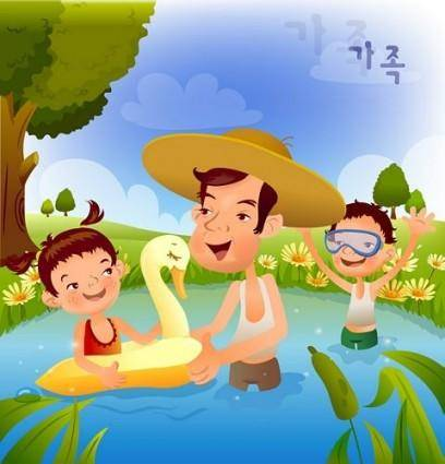 free vector Iclickart cartoon illustration vector 13 family