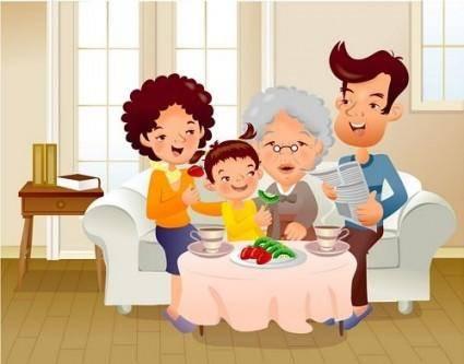 Iclickart cartoon illustration vector 14 family