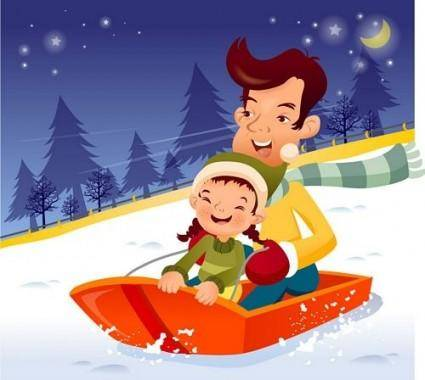 free vector Iclickart cartoon illustration vector 15 family