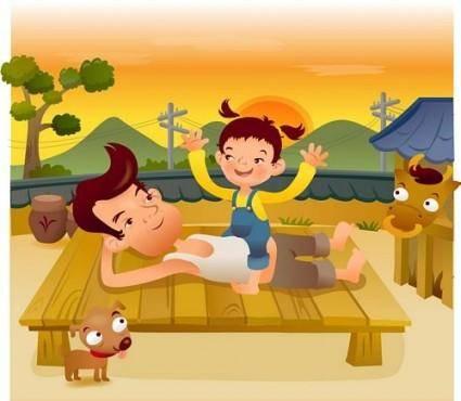 Iclickart cartoon illustration vector 17 family