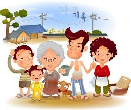 Iclickart cartoon illustration vector 1 family