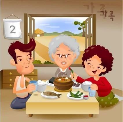 free vector Iclickart cartoon illustration vector 5 family
