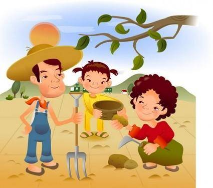 free vector Iclickart cartoon illustration vector 6 family