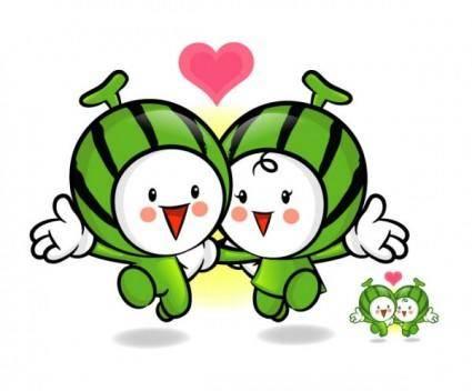 free vector Love the cartoon super fruits vector 3