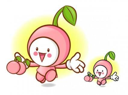 Love the cartoon super fruits vector 6