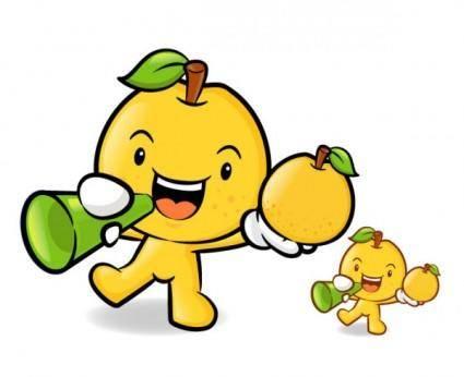 free vector Love the cartoon super fruits vector 2