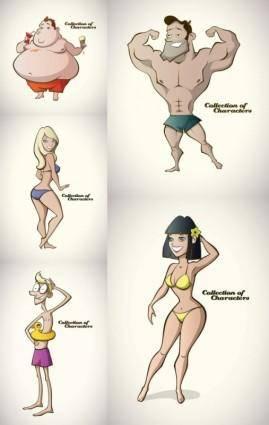 free vector Cartoon character vector