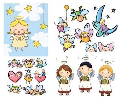free vector Cartoon angel vector