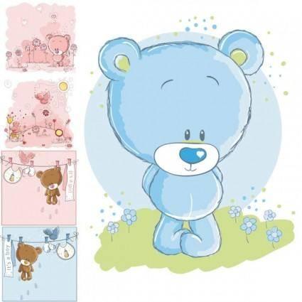 free vector Cute cartoon bear vector