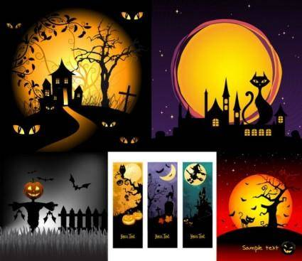 Halloween horror cartoon illustrators