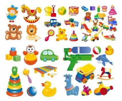 free vector Cartoon toy vector