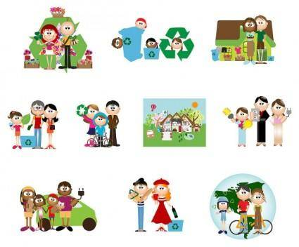 free vector Green cartoon character vector