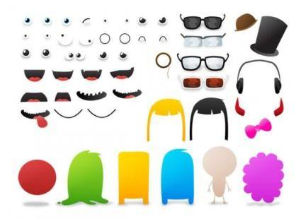 free vector Elements can be changed cartoon monster vector