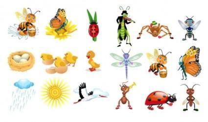 free vector Insect vector cute cartoon
