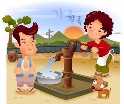 Iclickart cartoon illustration vector 3 family