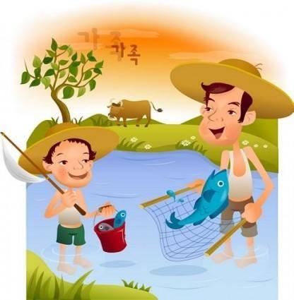 free vector Iclickart cartoon illustration vector 7 family
