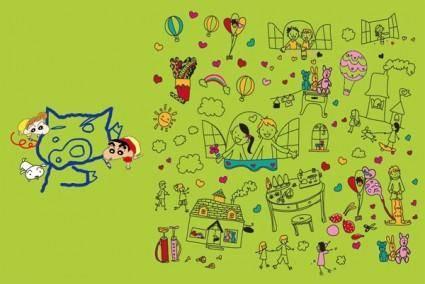 free vector Cute cartoon clip art