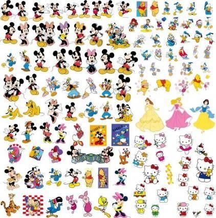 free vector Disney cartoon clip art collection
