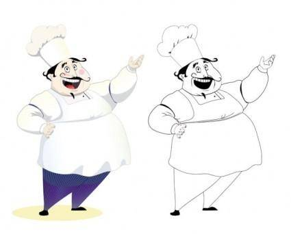 Cartoon characters chef 08 vector