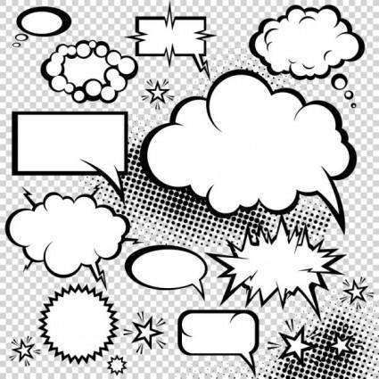 Cartoonstyle mushroom cloud dialog 05 vector