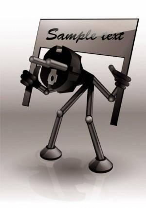 Cartoon plug 05 vector