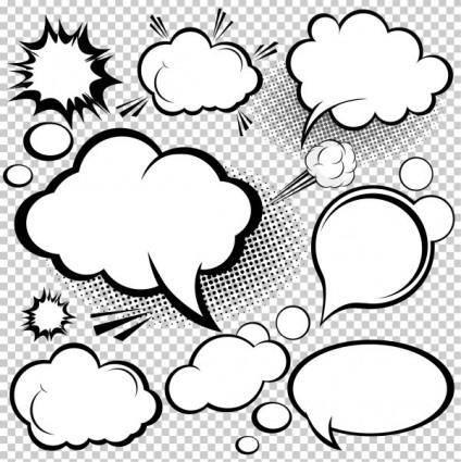 Cartoonstyle mushroom cloud layer 02 vector