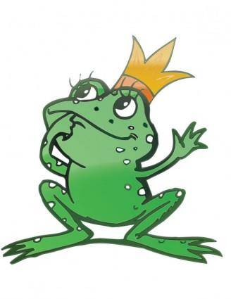 Vector cartoon frog prince