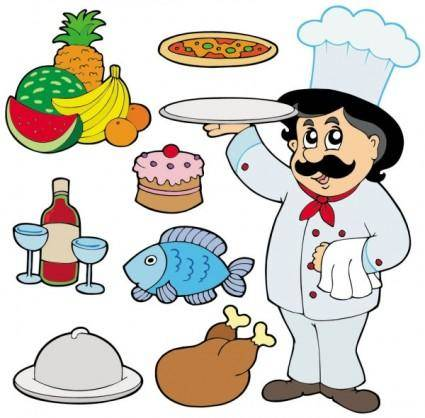 Cartoon characters chef 05 vector