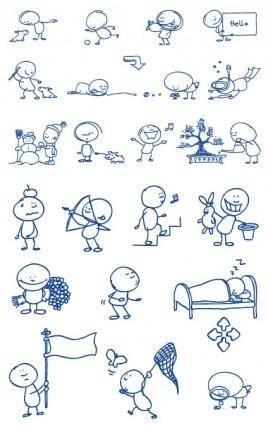 free vector Ballpoint pen drawing cartoon vector clip 2