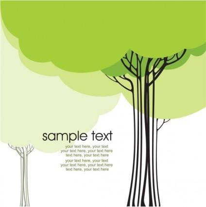 free vector Draft tree cartoon line 01 vector