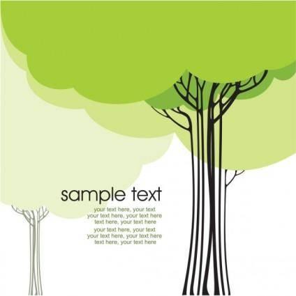 Draft tree cartoon line 01 vector