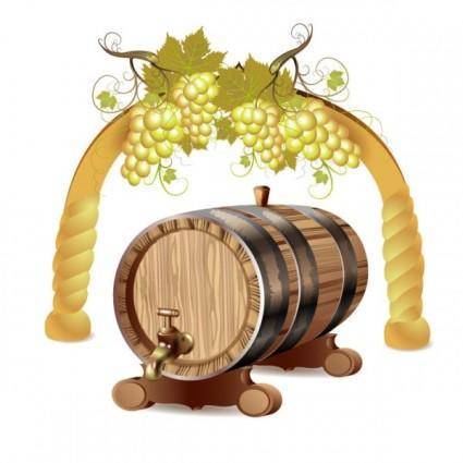 free vector Cartoon wine 01 vector