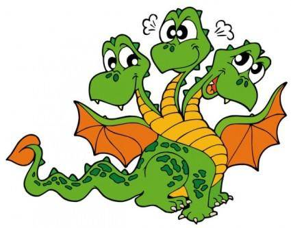 Cute cartoon dragon 02 vector