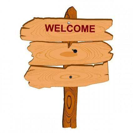 free vector Cartoon wood sign 01 vector