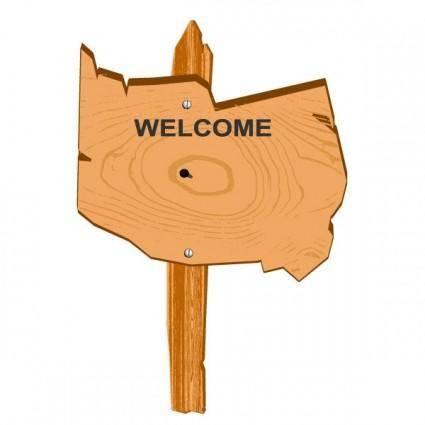 Cartoon wooden signs 03 vector