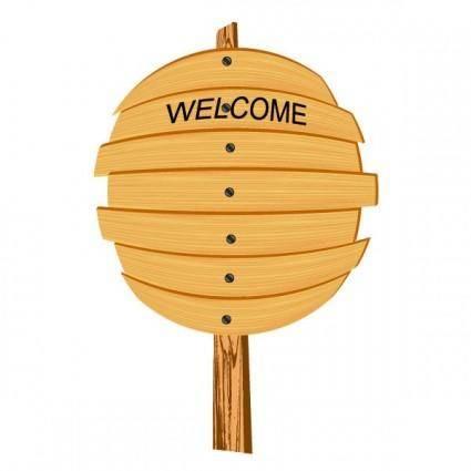 Cartoon wooden signs 05 vector