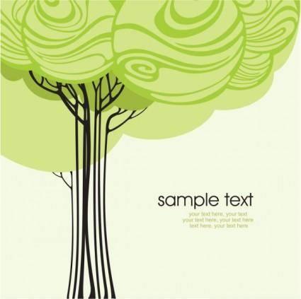 Cartoonline draft tree 02 vector