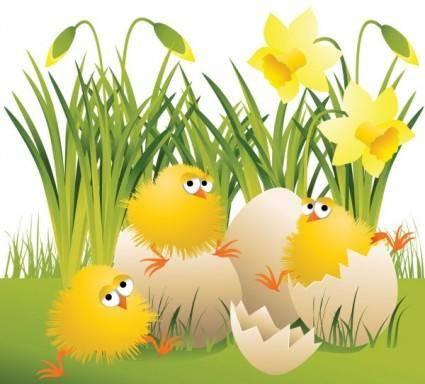 Cartoon chicks break the shell 05 vector