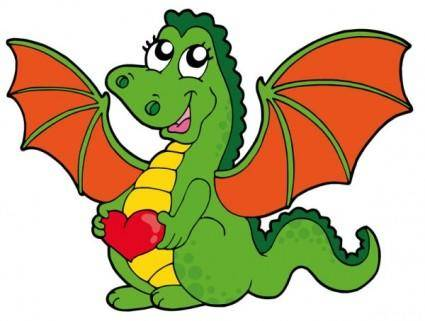 Cute cartoon dragon 01 vector